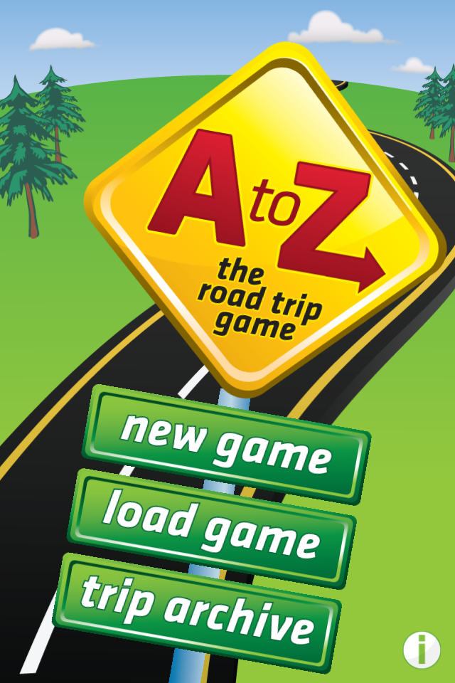 Screenshot A to Z – The Road Trip Game